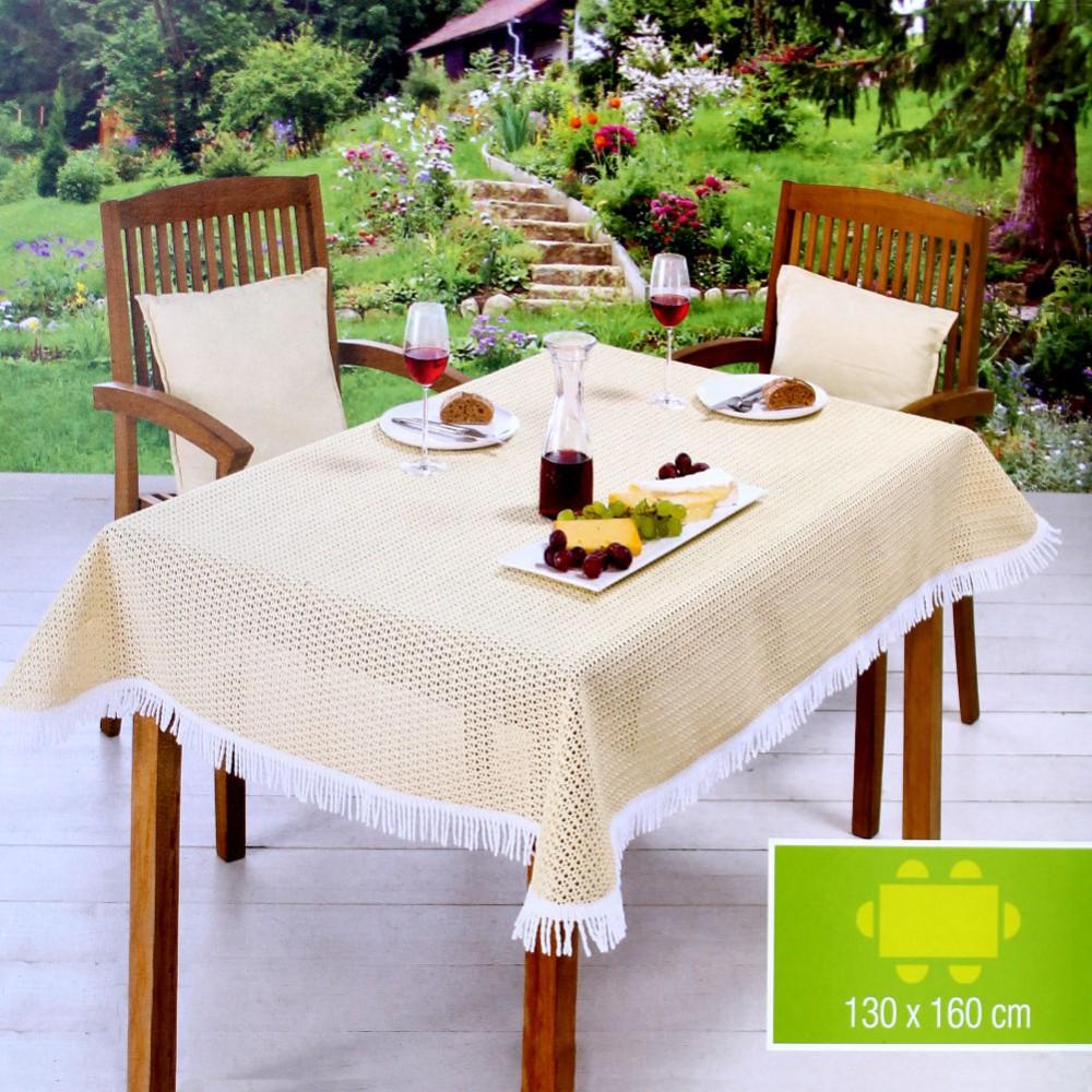 Gedeckter Tisch Im Garten: Friedola Garten-Tischdecke 130 X 160 Cm Eckig