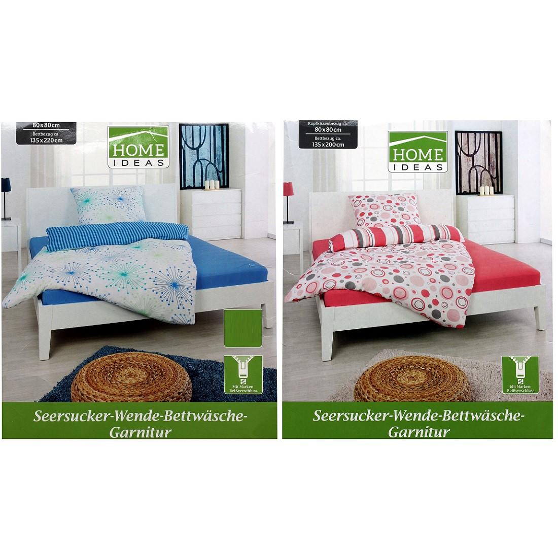 home ideas seersucker wende bettw sche garnitur 135 x 200. Black Bedroom Furniture Sets. Home Design Ideas