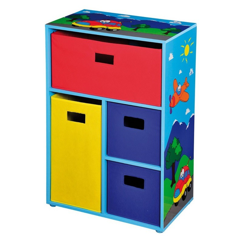 kesper kinderregal mit stoffboxen 50 x 30 x 80 cm spielzeug kinderschrank ebay. Black Bedroom Furniture Sets. Home Design Ideas