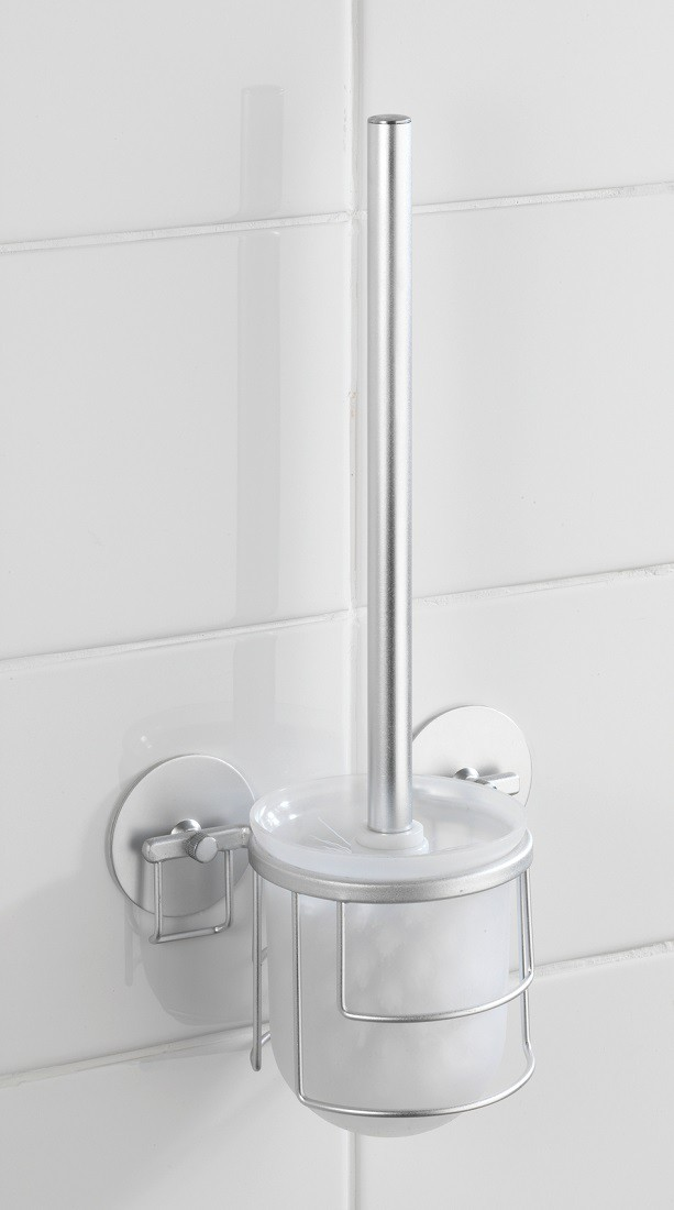wenko turbo loc wc garnitur b rste klob rste toilettenb rste aluminium rostfrei ebay. Black Bedroom Furniture Sets. Home Design Ideas