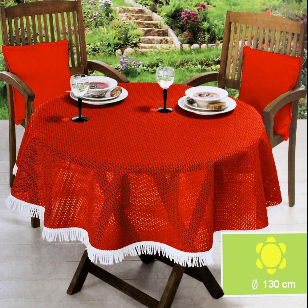 friedola garten tischdecke 130 cm rund made in germany gr n rot oder gelb ebay. Black Bedroom Furniture Sets. Home Design Ideas