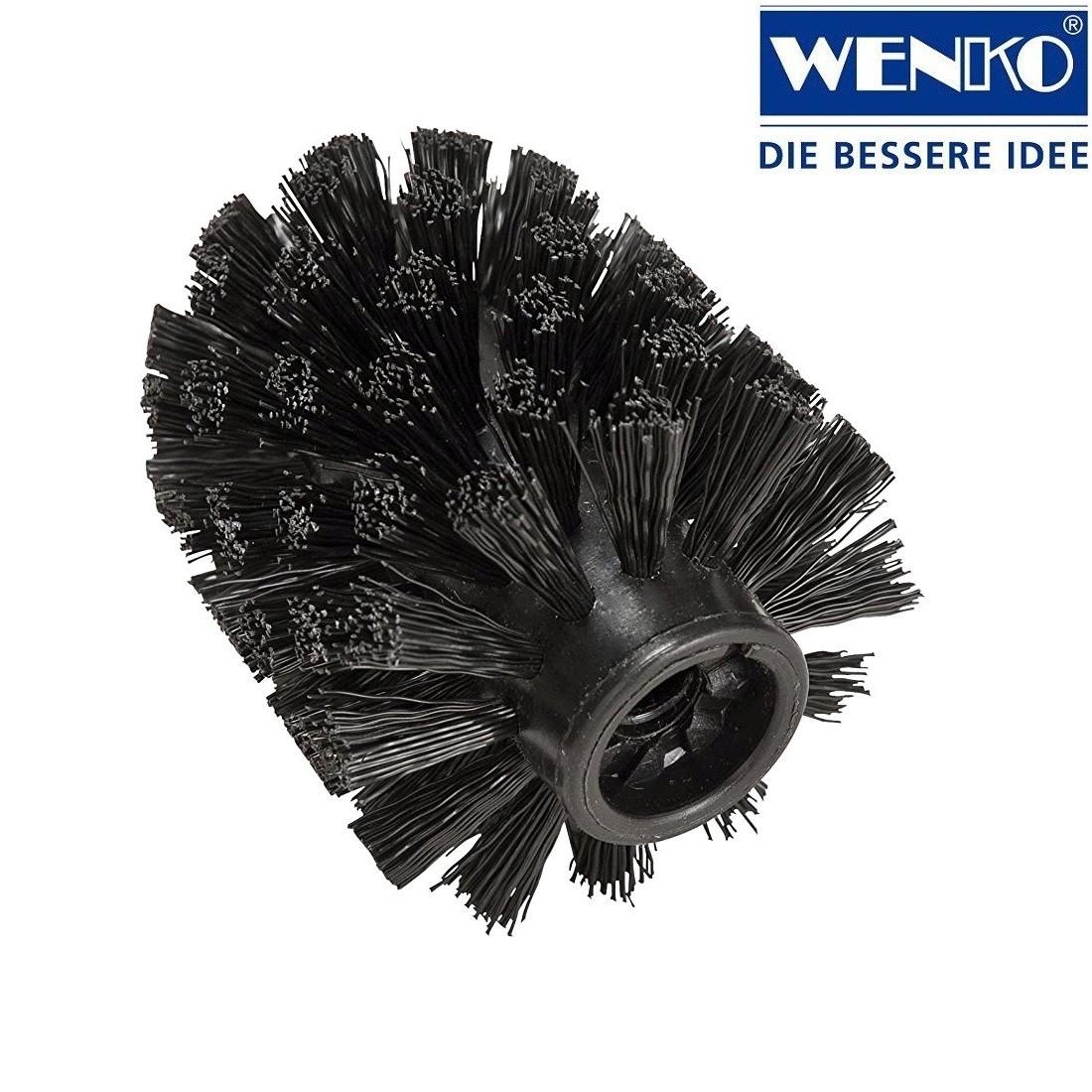 wenko wc b rstenkopf ersatzb rste kunststoff 7 5 cm schwarz heim garten badzubeh r. Black Bedroom Furniture Sets. Home Design Ideas